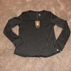 NWT prAna Long Sleeve Shirt Grey